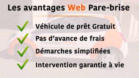 Avantages Web Pare-brise